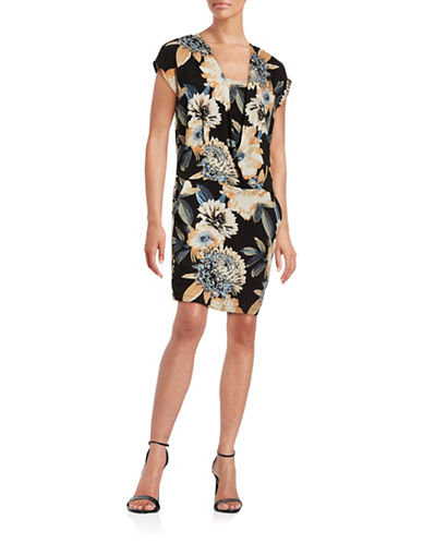 Ichi Botanic Floral Dress-BLUE MULTI-Medium