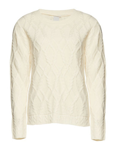 Ichi Mojo Cable Pullover-NATURAL-Large