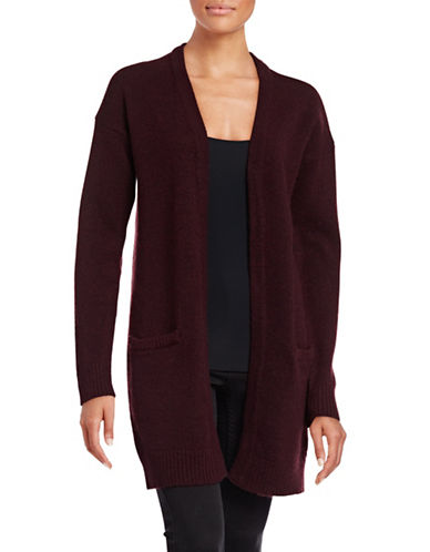 Ichi Wool-Blend Pocket Cardigan-RED-Medium