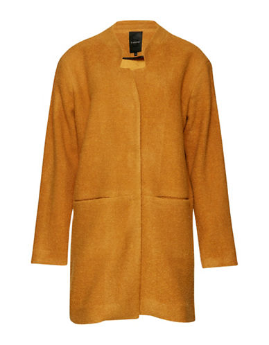 B. Young Brittany Boiled Wool Blend Topper Coat-GOLD-38