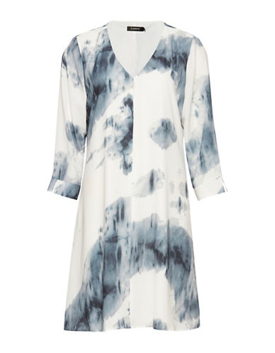 B. Young Helima Watercolour Shift Dress-BLUE/WHITE-36