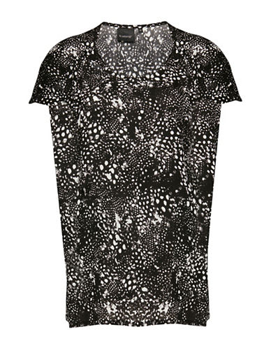 B. Young Hioli Splatter Print Blouse-BLACK-38