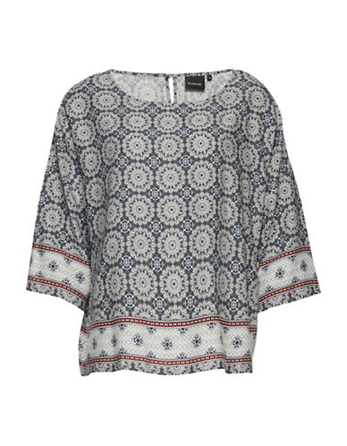 B. Young Galiana Mosaic Print Blouse-MULTI-36