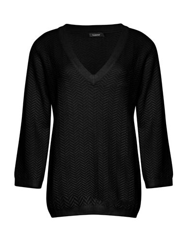 B. Young Obules V-Neck Sweater-BLACK-Medium
