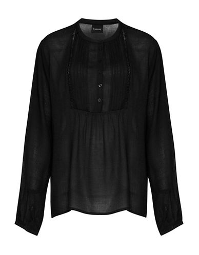 B. Young Havaya Peasant Blouse-BLACK-36