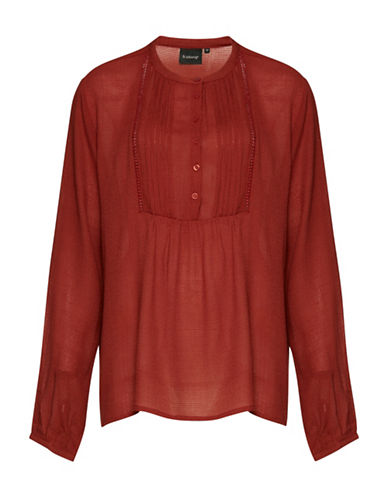 B. Young Havaya Peasant Blouse-RED-38