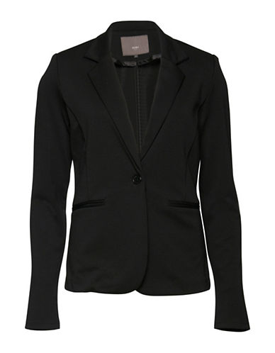 Ichi Kate Blazer-BLACK-X-Small