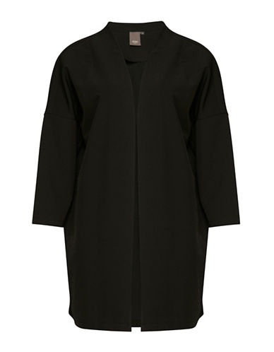 Ichi Jackie Three-Quarter Sleeve Soft Blazer-BLACK-X-Small/Small