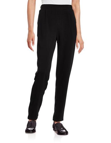 Ichi Bastina Crepe Easy Fit Pants-BLACK-Large 88601945_BLACK_Large