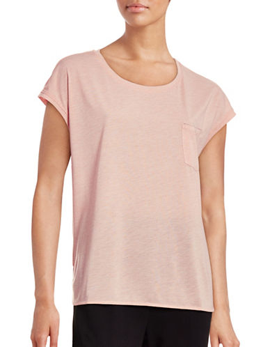 Ichi Lenisa Short Sleeve Sparkle T-Shirt-PINK-Medium 88601994_PINK_Medium