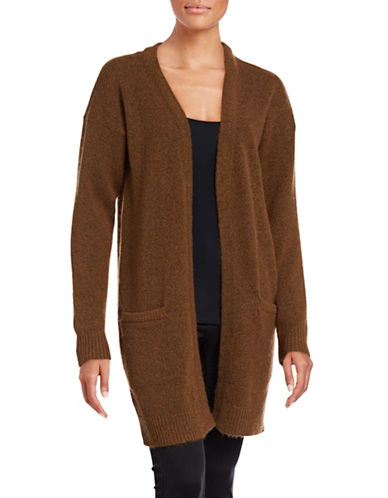 Ichi Wool-Blend Pocket Cardigan-COGNAC-X-Small
