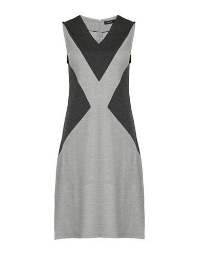 B. Young Pacey Graphic Jersey Sheath Dress-BLACK-X-Small
