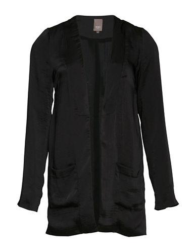 Ichi Comon Open Front Blazer-BLACK-40