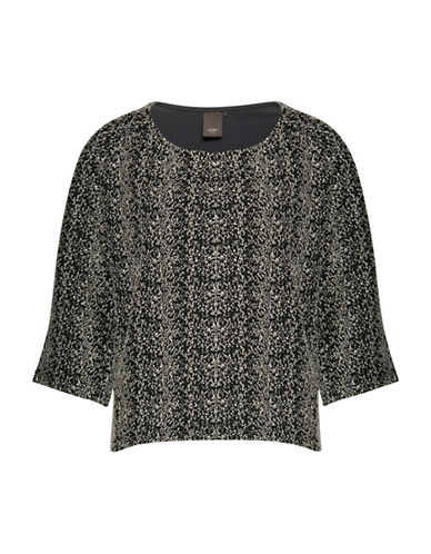 Ichi Janta Speckle-Print Top-BLACK-X-Small