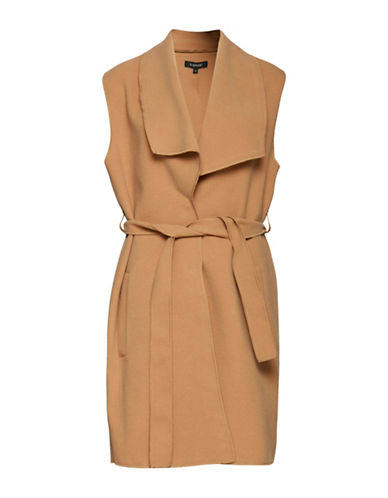 B. Young Cirline Belted Waistcoat-CAMEL-38