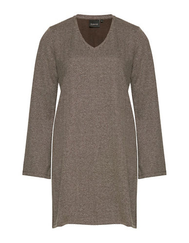 B. Young Rumma Herringbone Jersey Tunic-GREY-X-Small