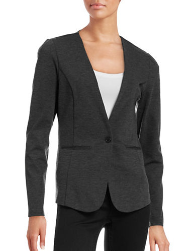 Ichi Katie Collarless Blazer-GREY-Small