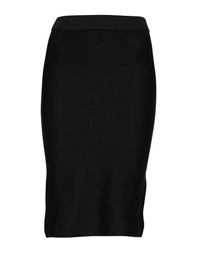 Ichi Milona Knit Skirt-BLACK-Small