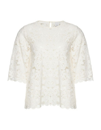 Ichi Dawn Open Lace Top-NATURAL-38