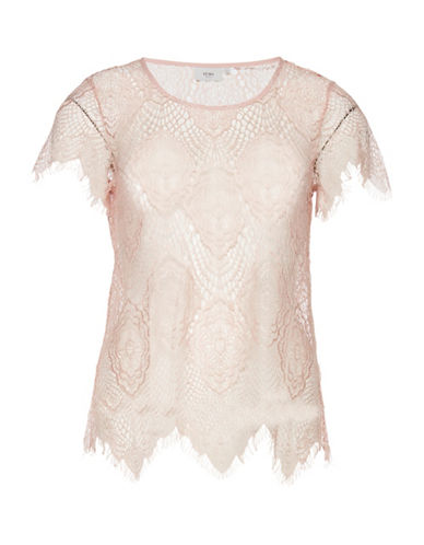 Ichi Kinoa Lace Shell Top-PINK-X-Small