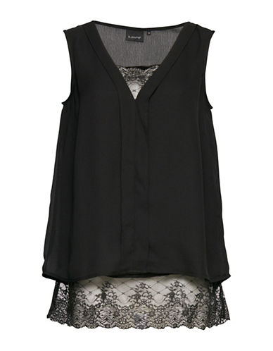 B. Young Hilion Chiffon Top-BLACK-40