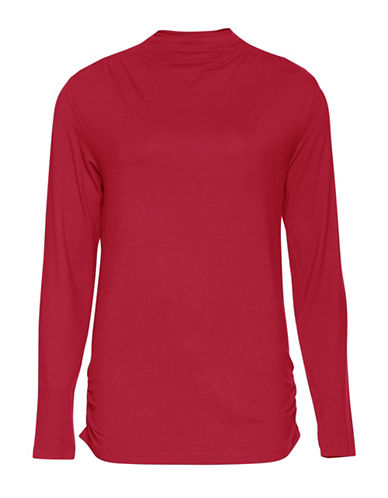 B. Young Segina Long Sleeve Blouse-RED-Small