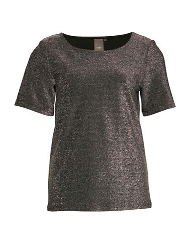 Ichi Karma Metallic Top-SILVER-X-Small
