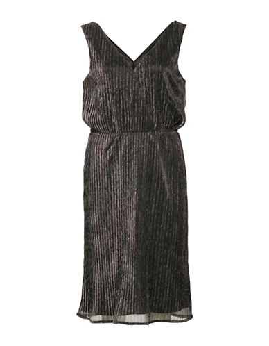 Ichi Kamelo Metallic Dress-SILVER-Large