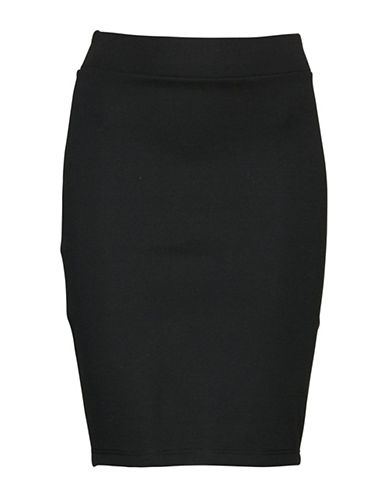 Ichi Lionerra Knit Pencil Skirt-BLACK-X-Small