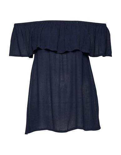 Ichi Marrakech Off-Shoulder Top-BLACK-Small 89175159_BLACK_Small