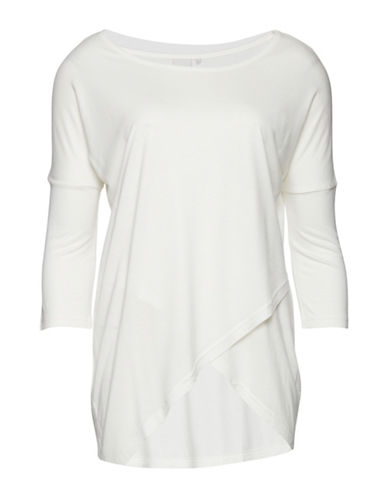 Ichi Jacrobi Three-Quarter Sleeve Top-NATURAL-X-Small