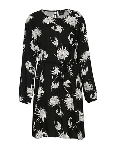 B. Young Hessio Floral Printed Dress-BLACK-42