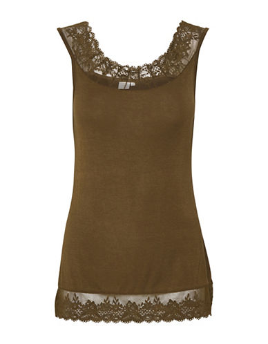 Cream Florence Lace Trimmed Cami-GREEN-X-Large