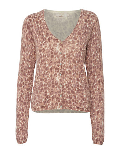 Cream Bianca Cardigan-BROWN MULTI-Large