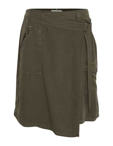 Cream Ida A-Line Skirt-GREEN-34