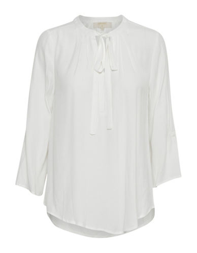 Cream Vera Pleated Blouse-CHALK-36