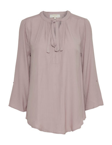 Cream Vera Pleated Blouse-PURPLE-34