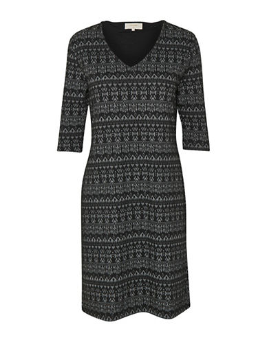 Cream Mira Embroidery Dress-BLACK MULTI-X-Small