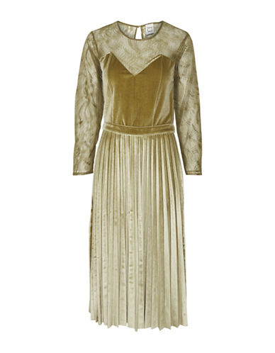 Karen By Simonsen Random Velvet Dress-ANTIQUE BROWN-40