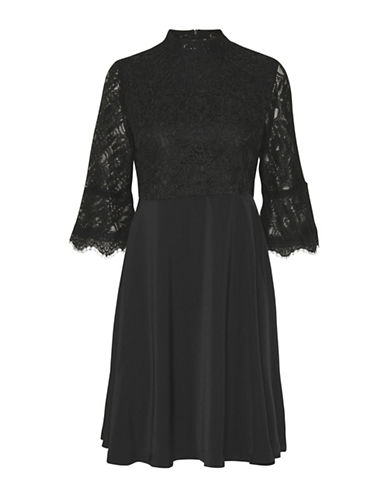 Karen By Simonsen Radient Lace Dress-BLACK-38