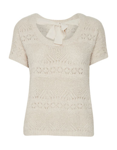 Cream Alcee Pullover-BEIGE-Medium