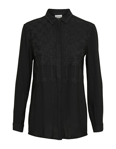 Karen By Simonsen Parisian Blouse-BLACK-44