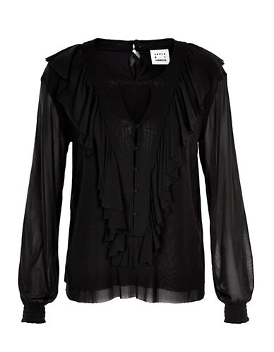 Karen By Simonsen Parley Blouse-BLACK-Medium