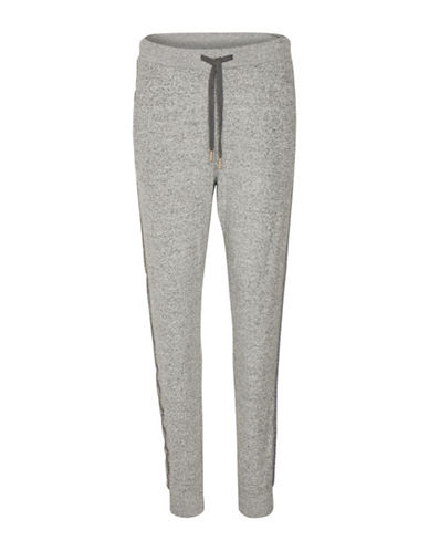 Cream Hally Jogger Pants-GREY-X-Large