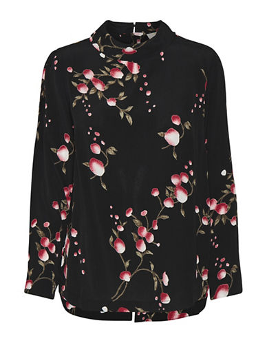 Cream Maggie Long-Sleeve Blouse-BLACK-36