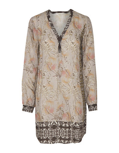 Cream Pippa Floral Tunic-PINK MULTI-40
