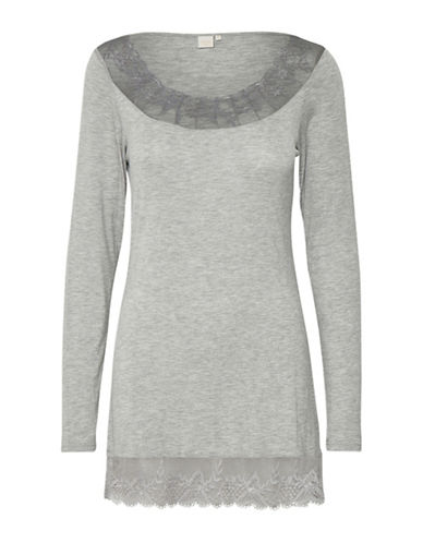 Cream Florence Long-Sleeve Top-GREY-X-Large