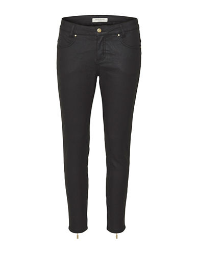 Denim Hunter Jasmin High 7/8 Custom Jeans-COATED BLACK-32