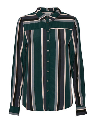 Denim Hunter Gwen Stripe Shirt-SCARAB-36