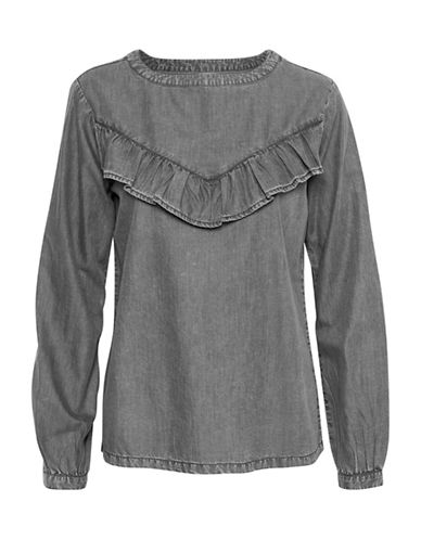 Denim Hunter Nav Blouse-PHANTOM-34